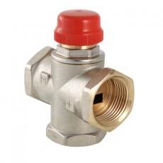 """3-х ходовой термостатический клапан, VALTEC, G1""""-внутр. резьба, Kvs-3.3, (с боковым смешиванием, без полного перекрытия)"""